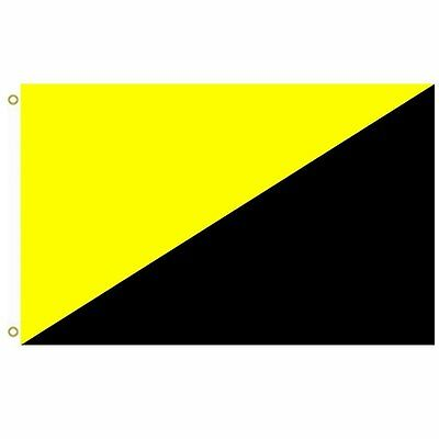 HOT Ancap Flag 3x5ft banner yellow and black free shipping