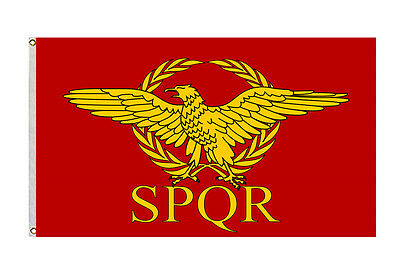 NEW  Roman Empire Senate and People of Rome Flag 3x5Ft banner red