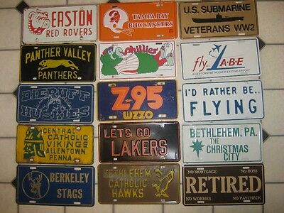 15 used Front License plates lot , AS IS