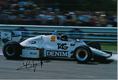 Jacques Lafitte signed 8X12 inches Williams F1 photo