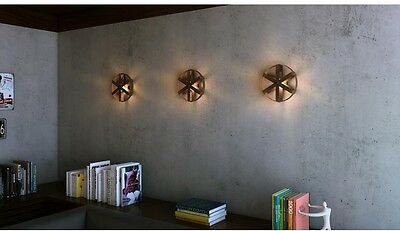 Rustic Bronze Wall Sconce Industrial Modern Design Steampunk Home Decor Steel