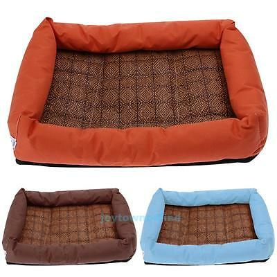 Pet Dog Cat Bed Puppy Cushion House Pet Soft Cooling Kennel Dog Mat Blanket Pad