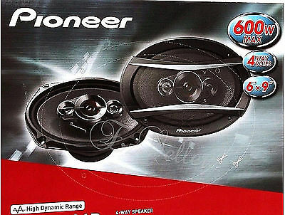 """Pioneer TS-A6986R 600 Watts 6"""" x 9"""" 4-Way Coaxial Car Audio Speakers Pair New"""