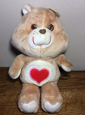 Vintage 1983 Care Bear Tenderheart Plush Stuffed Animal Kenner 13""