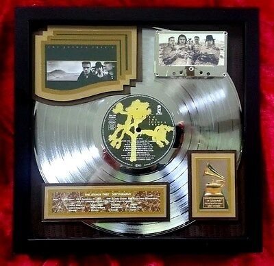 U2 The Joshua Tree PLATINUM AWARD (10-Million sales) 1995 showing Grammy RARE-E