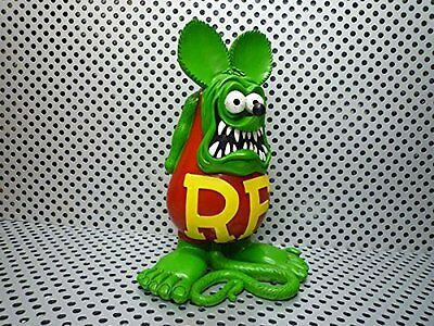 RAT FINK BIG Statue Green HR HOTROD KU KUSTOM Resin Model figure japan Doll