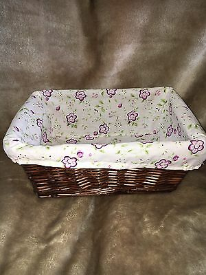 Cocalo Baby Basket With Liner Purple Floral Design