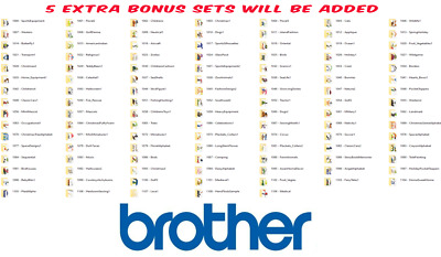 1000 TO 1109 BROTHER CARD EMBROIDERY DESIGN SETS  IN PES/JEF/HUS CD or USB