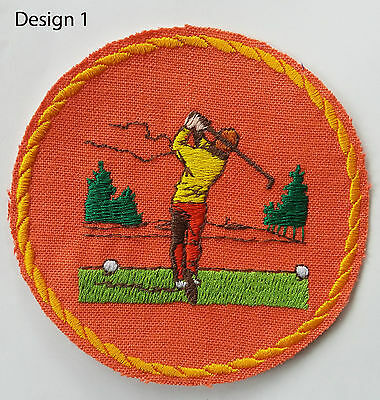 VARIOUS Fabric Cloth Golf patches Badges,Ideal, Prescent sew on or iron on