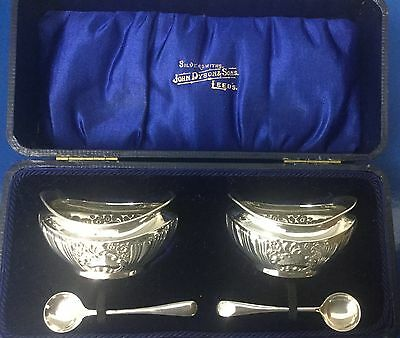 Silver Salts And Spoons Joeph Gloster Lion Silver Works Hockley Hill B'ham 1906.