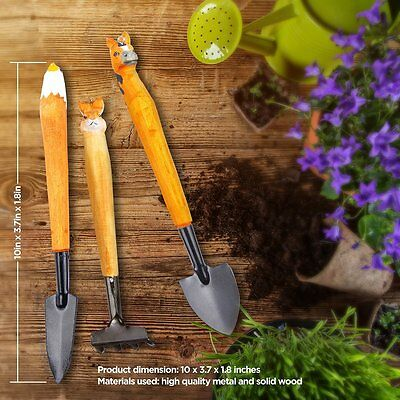 aGreatLife Kids Gardening Kit Handcrafted Wooden Tools for Gardeners of all ages