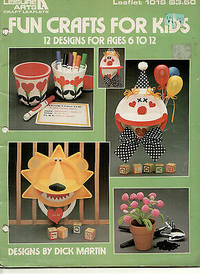 Fun Crafts For Kids 12 Designs Leaisure Arts Craft Leaflets #1019