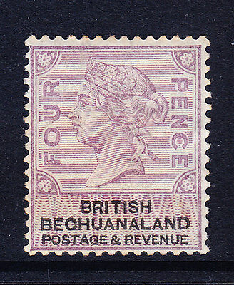 BRITISH BECHUANALAND  1880 SG13 4d lilac & black - heavyish mounted mint cat £65