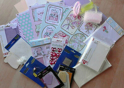 Job Lot Card Making & Scrapbooking. Paper, Toppers, Ribbon, Cards etc  MEGAJL01