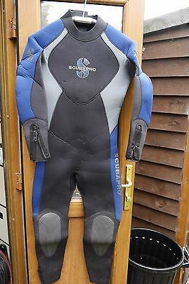 ScubaPro Profile 7mm Size M Scuba Diving Semidry Wetsuit Hardly used