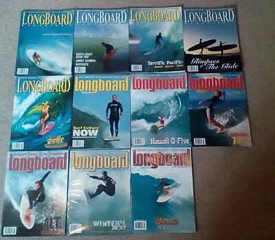 Longboard Magazine Collection, 59 Editions,Excellent condition.Surfboard Surfer