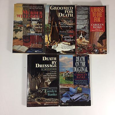 5 Horse Mystery Paperback Books Carolyn Banks Dressage Fun Reads