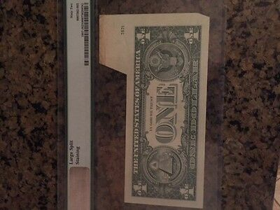 $1.00 Error Bank Note Fold Over