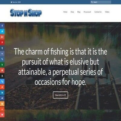 """Fully Stocked Dropshipping FISHING Website Store. """"300 Hits A Day"""""""