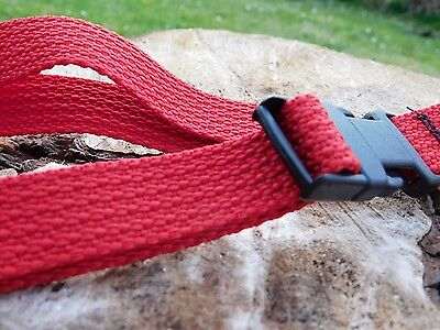 Chalk Bag Adjustable Waist Belt Strap with Clip Buckle In Red