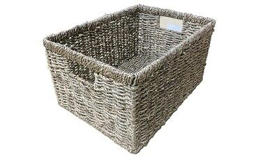 Deep Seagrass Storage Basket Box Hamper Rectangular  Small Medium Large