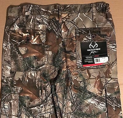 REALTREE Xtra Extra Camo Cargo Pants Forest Hunting Draw Cord Leg Womens M-XL Nw