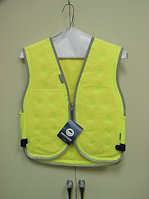 Inuteq Motorcycle Road Worker Lawn Care Reflective Cooling Vest Mens Size M