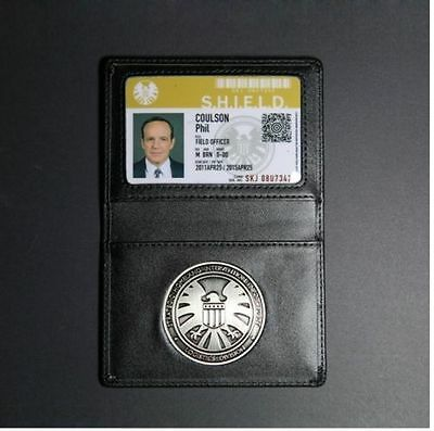 New Avengers Agents of S.H.I.E.L.D Shield Badge Leather Wallet ID Holder Case