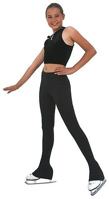 New Chloe Noel Fleece Ice Skating Pants P83 - Black- Size CM