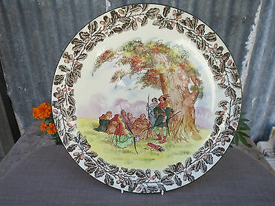HUGE Royal doulton Charger Wall Plate Under the Greenwood Tree, Robin Hood, 1920