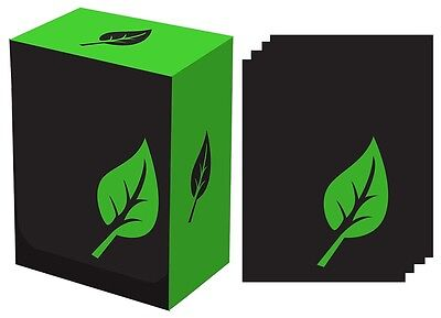 Iconic: Green Life Deck Box with 100 Deck Protector Sleeves, Legion Supplies