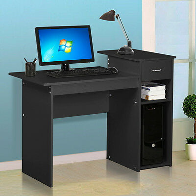 Computer Desk Home Office Wood PC Laptop Table Study Workstation Dorm w/ Drawer