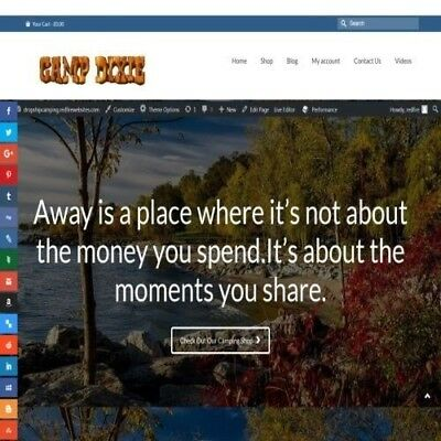 """Fully Stocked Dropshipping CAMPING Website Store. """"300 Hits A Day"""""""