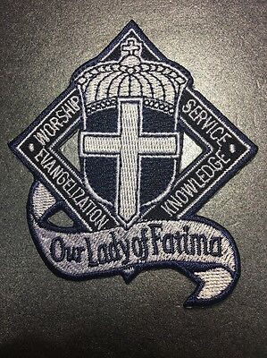 Our Lady Of the Holy Rosary of Fatima Blessed Virgin Mary Roman Catholic Patch