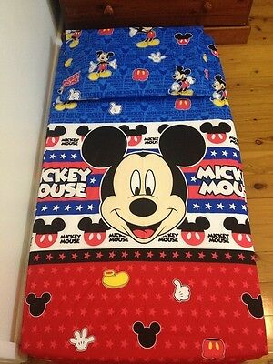 New Blue Mickey Mouse Boys Cot Fitted Sheet + Pillowcase