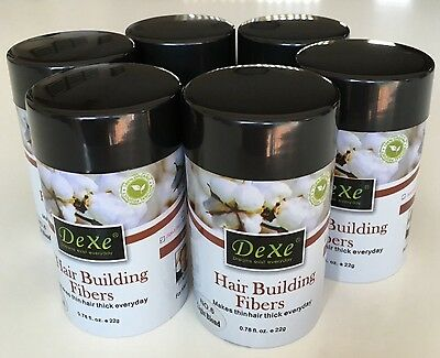 DEXE HAIR BUILDING FIBRES x 5 AUSTRALIAN SELLER, LIGHT and MEDIUM BROWN 22g