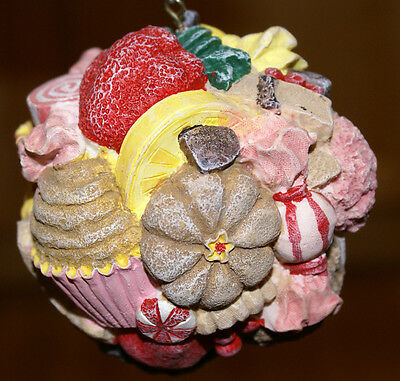 """Candy Topped Cupcake Dessert Sweets Christmas Ornament - 4"""""""