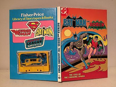 1982 Batman Robin Case of the Laughing Sphinx Cassette Hardcover Comic Book DC
