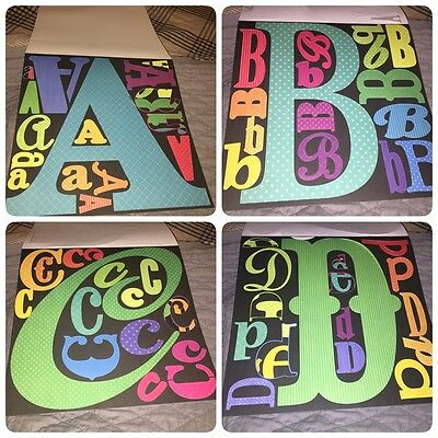 Scrapbook Crafts Alpha Punch Out Pack Letter Alphabet Cut Outs