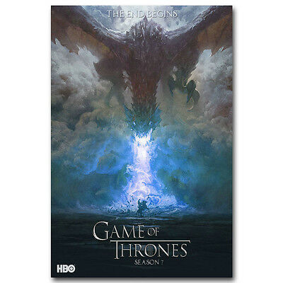 Game Of Thrones TV Shows Season 7 Silk Poster Print 12x18 20x30 inches 040