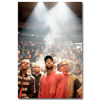 Kanye West The Life Of Pablo Silk Poster Rap HipHop Super Star 12x21 24x43