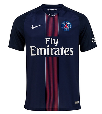 PSG Football Soccer Home Shirt 2016/17- Personalised name/no available