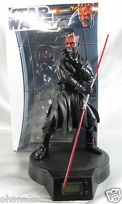 STAR WARS Darth Maul Figure Clock Size 20 cm TAITO