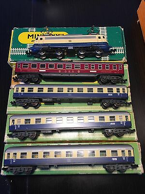 Minitrix locomotive (2931) and passenger cars (3013 & 3014) in original packages