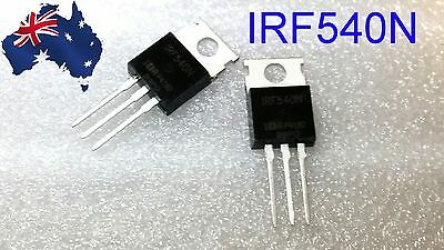 IRF540N Power MOSFET 33A 100V TO-220 - 2 pcs - Free Postage