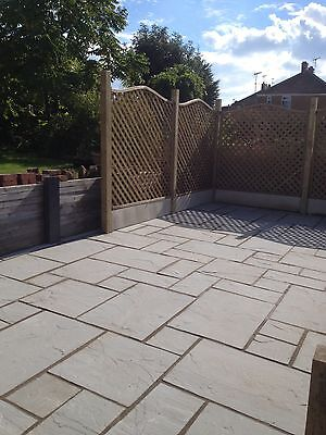 Silver Grey indian Sandstone Paving Flags Pavers - 2 Day Delivery Natural stone