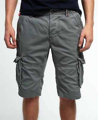 New Mens Superdry Core Cargo Lite Shorts James Grey