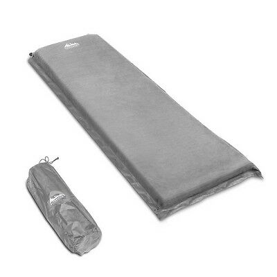 NEW Durable Single Self Inflating Outdoor Camping Sleeping Mat, 10cm Thick Grey