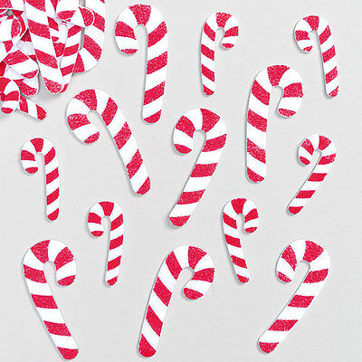 Candy Cane Felt Stickers for Children Decorating Christmas Cards (Pack of 100)
