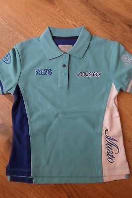 Musto Gorgeous Quality Childs Equestrian Polo Shirt 5/6 Years  - Brand New!